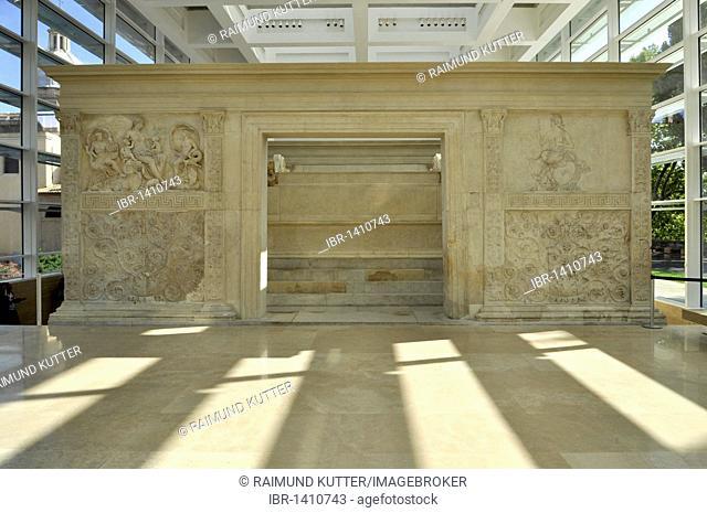 Altar of Augustan Peace, Ara Pacis Augustae, eastside, Rome, Lazio, Italy, Europe