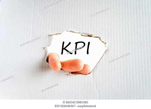 Kpi text concept isolated over white background