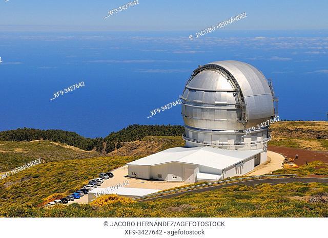 Astronomical observatory. Roque de los Muchachos. Caldera de Taburiente National Park. La Palma. Canary Islands. Spain