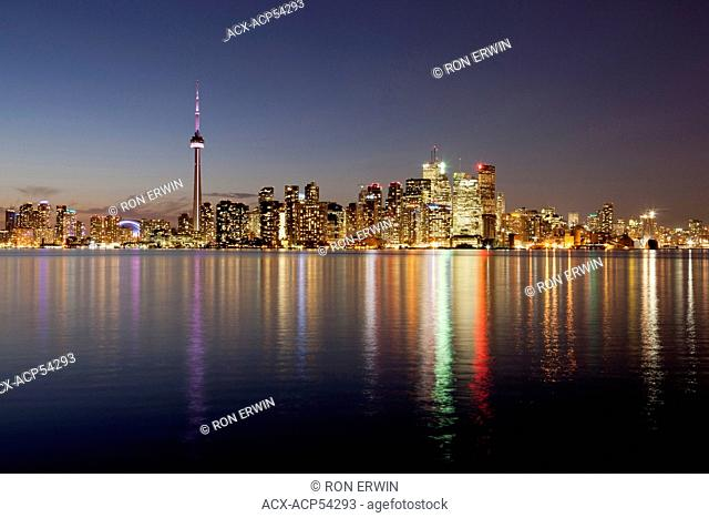 The City of Toronto, Ontario as seen from Algonquin Island - one of the Toronto Islands