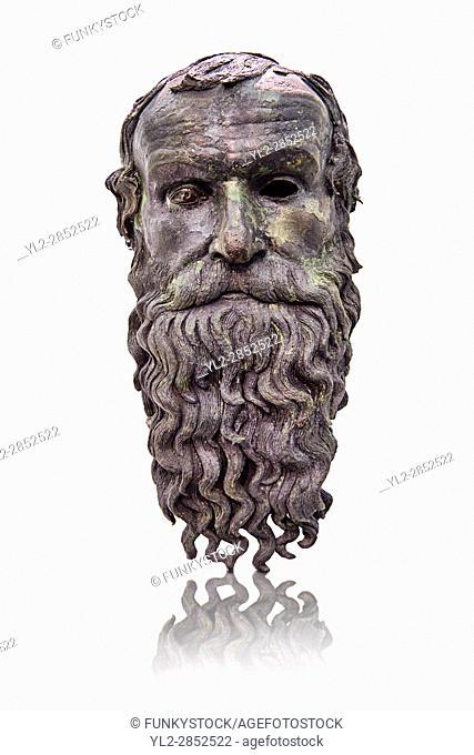The Riace bronze Greek statue head cast about 460 BC. Museo Nazionale della Magna Grecia, Reggio Calabria, Italy