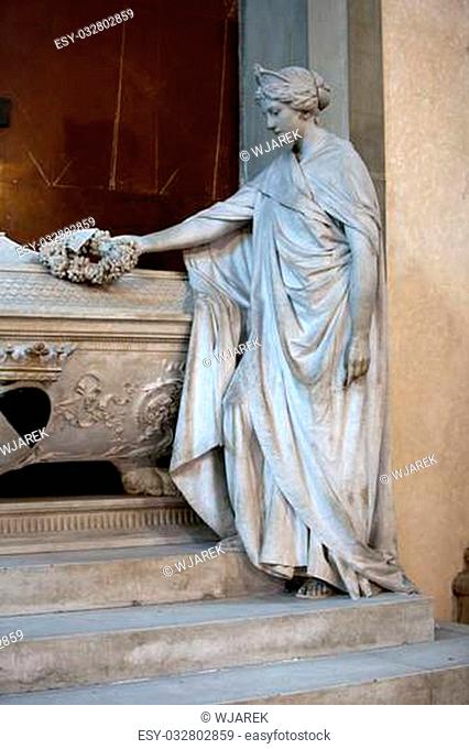 Florence - Santa Croce. Tomb of Gino Capponi