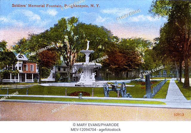 Soldiers' Memorial Fountain, Poughkeepsie, New York State, USA