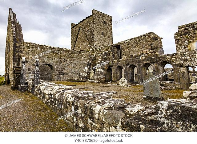Ruins of Burrishoole Friary a Dominican Friary in County Mayo Ireland
