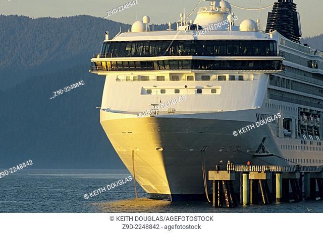 Cruise ship 'Norwegian Spirit' in harbour, Prince Rupert, British Columbia