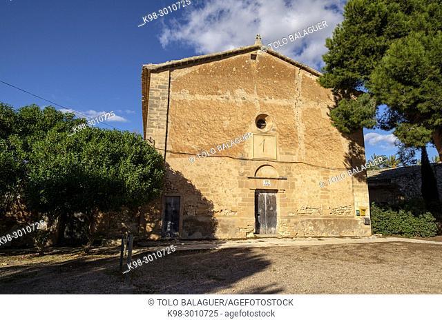 oratorio de Sant Joan de la Font Santa, original dedicado a Sant Silvestre y Santa Coloma, siglo XV, Campos, ,Mallorca, balearic islands, Spain