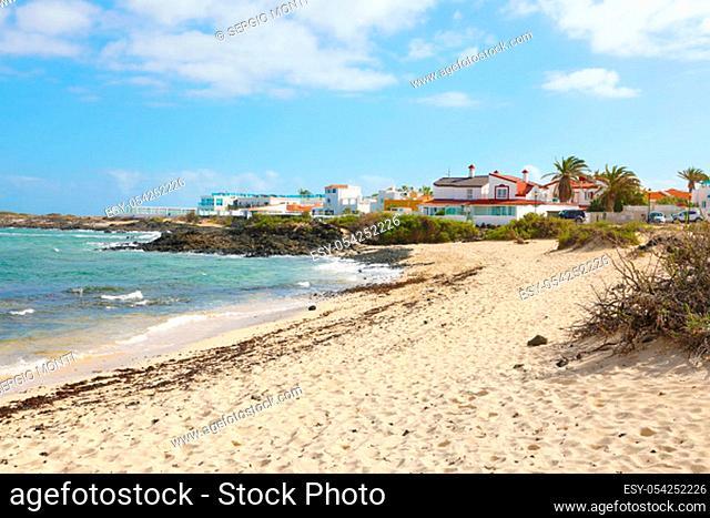 Beautiful view of Corralejo beach, Fuerteventura, Canary Islands