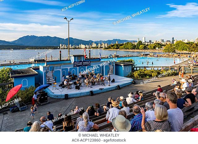 Urbana community jazz orchestra, Kitsilano Showboat stage, Kitsilano, Vancouver, British Columbia, Canada