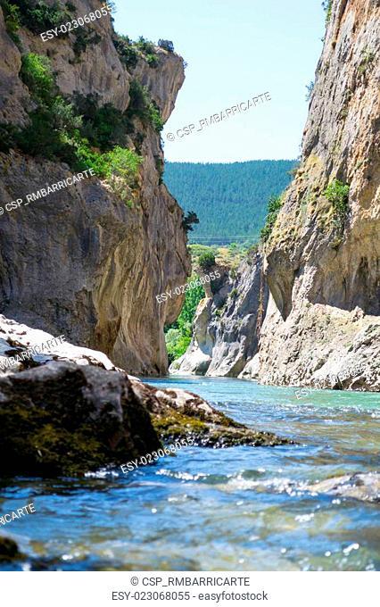 Irati river in lumbier