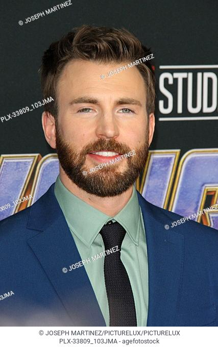 """Chris Evans at The World Premiere of Marvel Studios' """"""""Avengers: Endgame"""""""" held at the Los Angeles Convention Center, Los Angeles, CA, April 22, 2019"""
