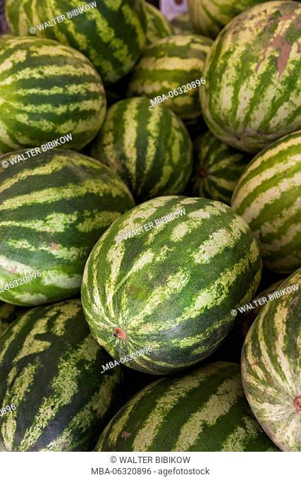 Iran, Tehran, fruit market, melons
