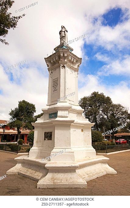 Statue of Bartolomeo De Las Casas at the park, San Cristobal de las Casas, Chiapas State, Mexico, North America