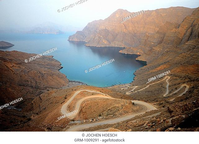 View from Khor Al Najd, Musandam peninsula, Oman