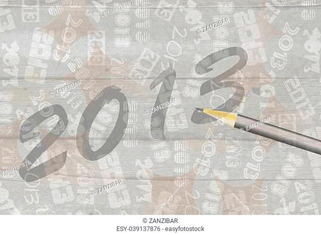 background calendar New Year 2013