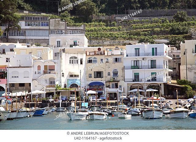 Marina Grande on the Isle of Capri in Italy