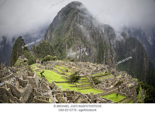 The Inca lost ruins at Machu Picchu, Peru