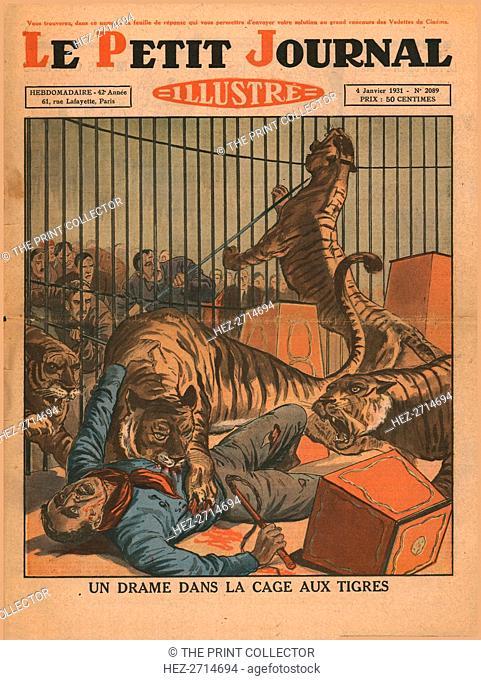 A drama in the tiger cage, 1931. Creator: Unknown