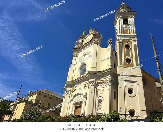 Italy, Liguria, Laigueglia, San Matteo Church. . .