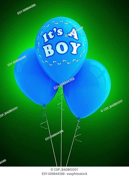 It's a boy party balloon