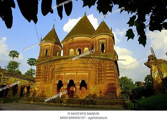 Govinda Temple, Puthia, Rajshahi, Bangladesh This is a beautiful little two storied do-chala shrine behind the palace called Puthia Rajbari It was erected...