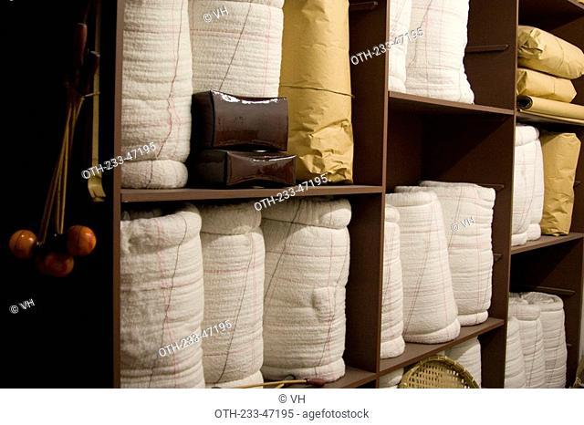 Exhibit of old wool quilt shop at Hong Kong Heritage Museum, Shatin, Hong Kong