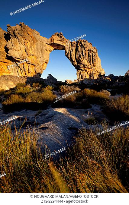 Landscape photo of the Wolfberg Arch. Cedarberg, Western Cape, South Africa