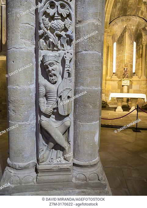 Rey David. Catedral del Salvador de Santo Domingo de la Calzada. La Rioja. Spain