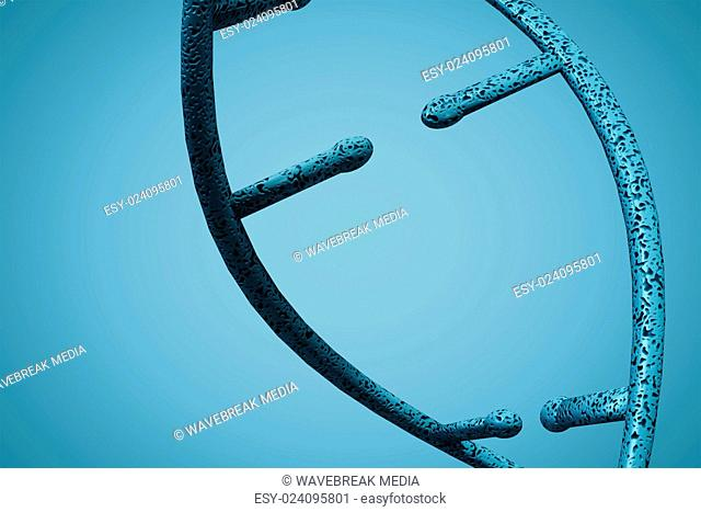 Composite image of image of dna helix