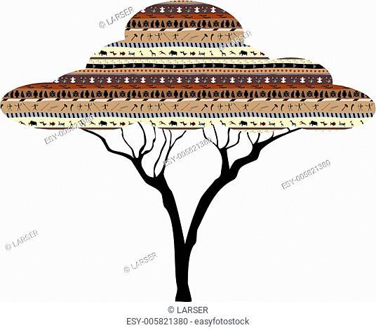 Abstract tree African savanna
