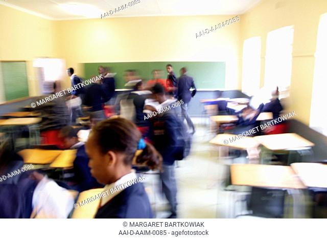 Classroom movement, St Mark's School, Mbabane, Hhohho, Kingdom of Swaziland