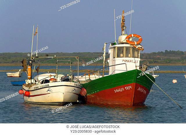 Fishing port of El Terron, Lepe, Huelva-province, Region of Andalusia, Spain, Europe