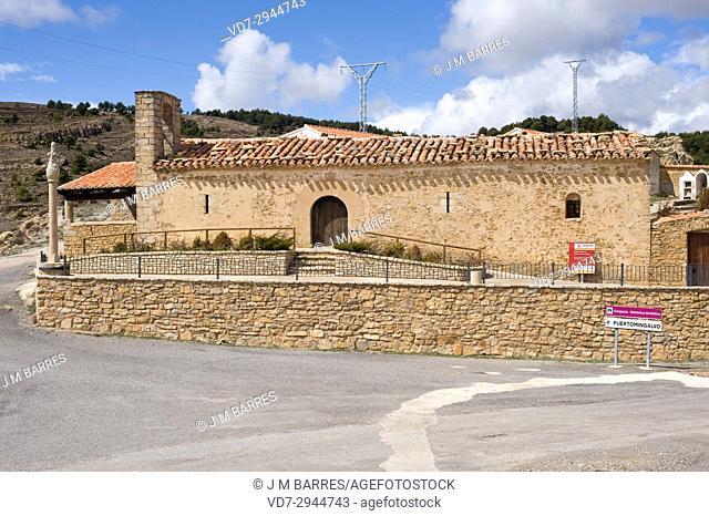Puertomingalvo, Ermita de Santa Barbara. Alto Maestrazgo, Teruel province, Aragon, Spain
