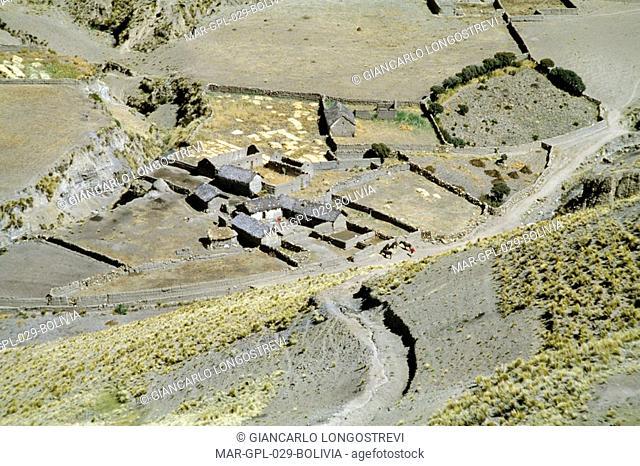 bolivia, village near oruro