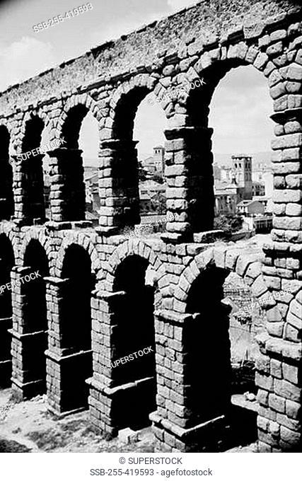 Spain, Segovia, Roman aqueduct