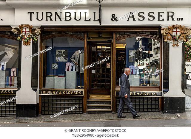 Turnbull & Asser Men's Clothing Shop In Jermyn Street, St James's, London, UK