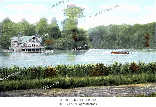 Virginia Water, Surrey, 20th Century. Postcard from The Souvenir Album, Views of London And The River Thames, From London To Oxford, (London, 20th Century)