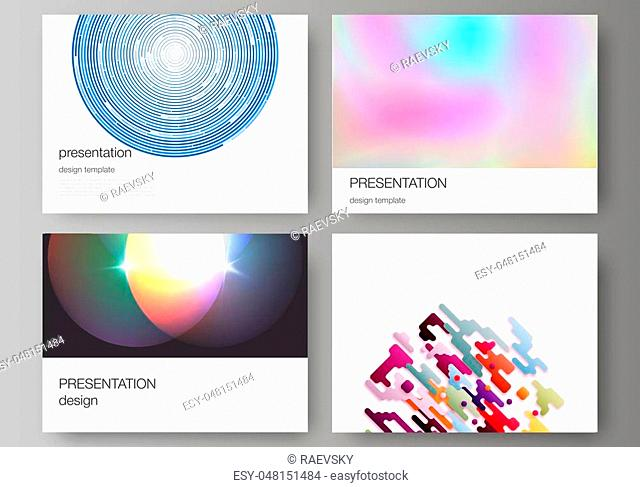 The minimalistic abstract vector illustration of the editable layout of the presentation slides design business templates