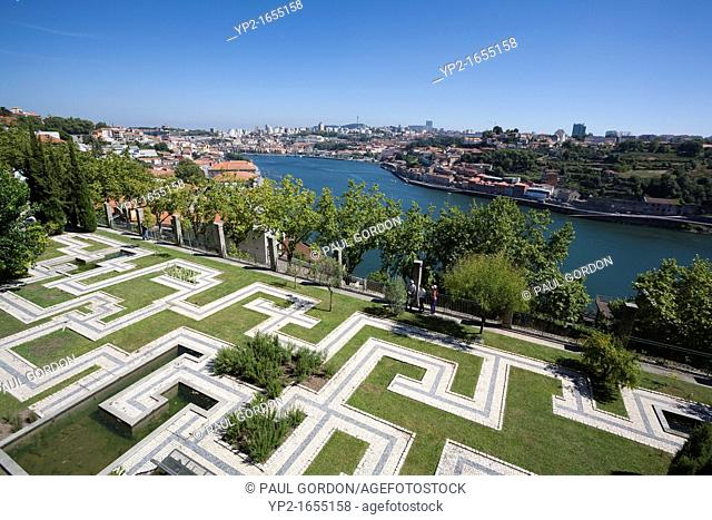 Gardens of the Crystal Palace on the banks of the Douro River - Porto, Porto District, Norte Region, Portugal