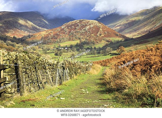 The Tongue in the Troutbeck Valley in the Lake District National Park, captured in early November from the public footpath that runs along the eastern side of...