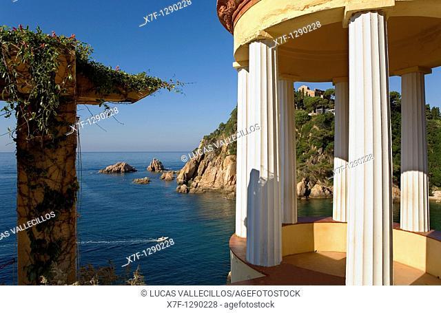 Blanes Mediterranean sea, as seen from Mar i Murtra Botanical garden  Costa Brava  Girona province  Catalonia  Spain