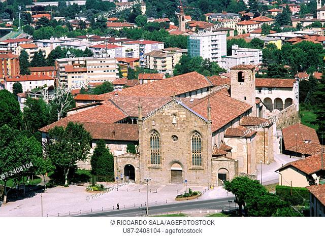 Italy, Lombardy, Bergamo, Bergamo Alta, Convento di Sant Agostino, Church