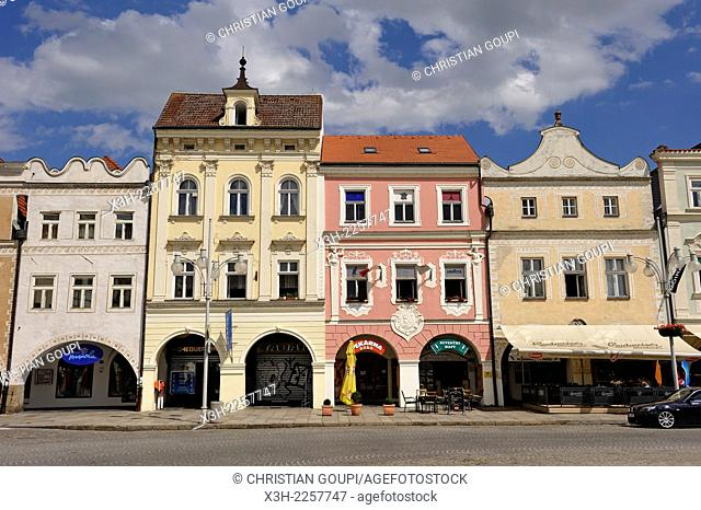 Premysl Ottokar II Square, Ceske Budejovice, South Bohemian Region, Czech Republic, Europe
