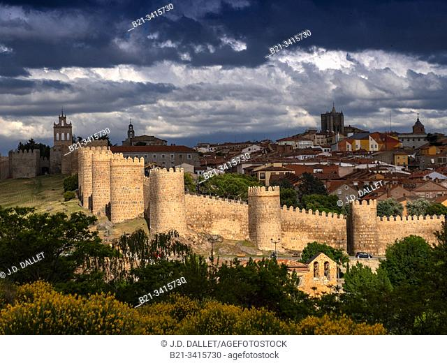"Spain, Castilla-Leon, Ávila, the """"walled town"""" of Avila"
