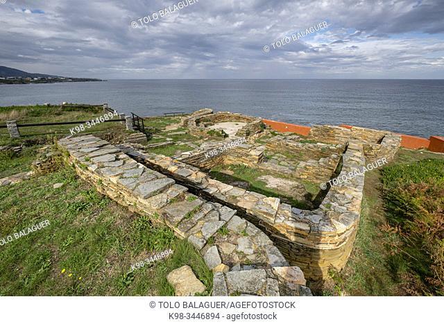 castro de Fazouro, datado entre los siglos I y III d. C. , Fazouro, término municipal de Foz, Provincia de Lugo, Galicia, Spain