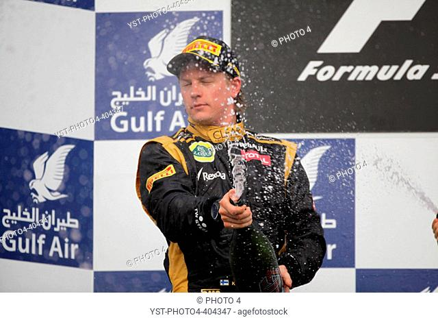 22.04.2012- Race, 2nd position Kimi Raikkonen (FIN) Lotus F1 Team E20, Bahrain Grand Prix, Manama