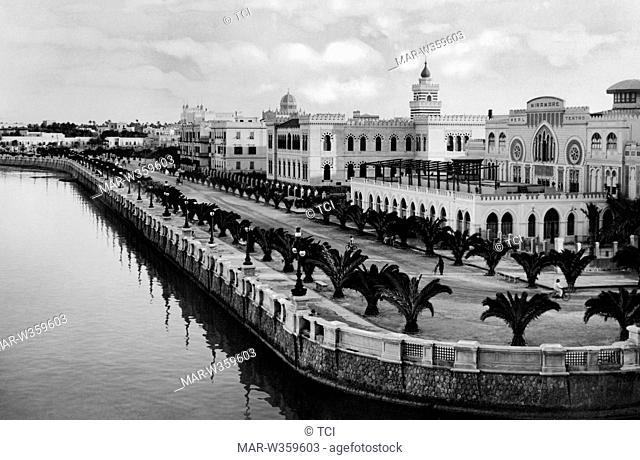 promenade, tripoli, libya, africa 1930-40