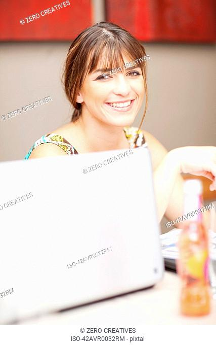Businesswoman at conference table