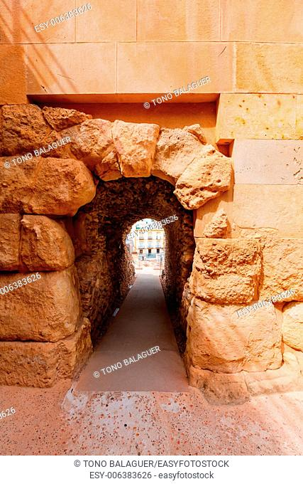 Cartagena Roman Amphitheater corridor in Murcia Spain