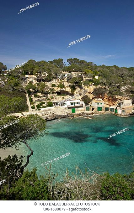 Cala Llombards, Santanyi, Majorca, Balearic Islands, Spain