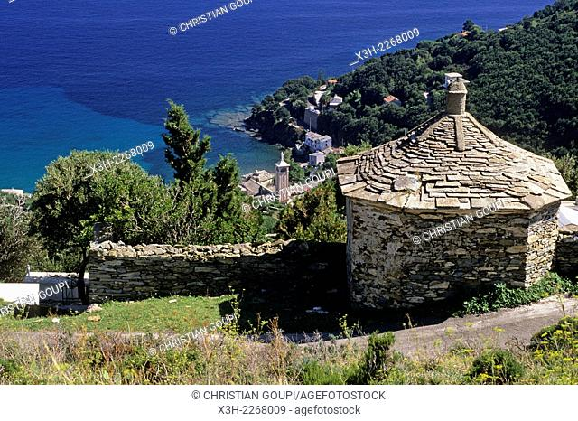 tomb at San-Martino-di-Lota, commune of the Cap Corse, Haute-Corse department, Northern Corsica, France, Europe